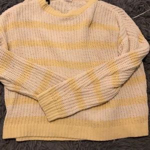 Light Yellow & Off white Knit long sleeve